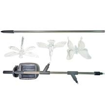 Brand New Outdoor Solar Garden Bird LED Light, Butterfly,Dragonfly Stake Stainless Steel Stake, Chameleon co