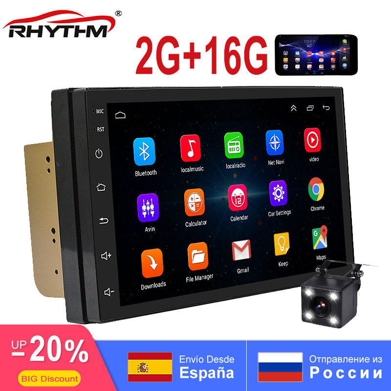 RAM 2 GB 2din android 8.1 GPS rádio do carro auto bluetooth wi-fi áudio multi apoio dab Navegação SWC android estéreo ligação espelho