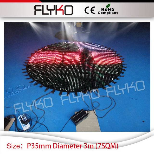 LED video screen P35mm round flexible indoor led dj backdrop on sale wall