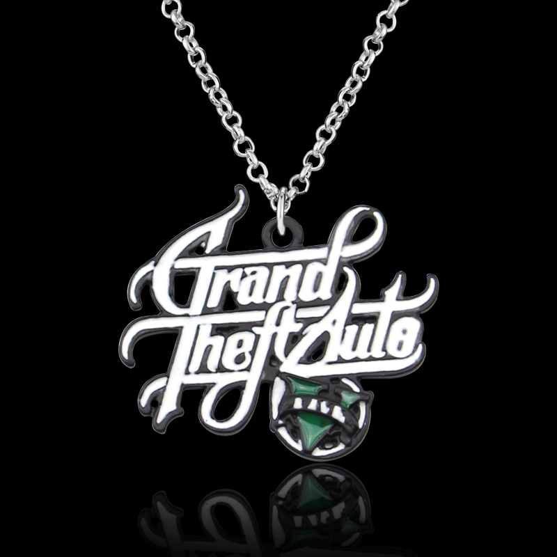 PS4 GTA 5 Game Necklace Grand Theft Auto 5 Pendant necklace