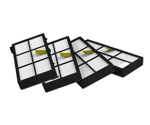 4 Pack Hepa Filters Replacement  Cleaner Accessory For iRobot Roomba 800 series 870 880  900 series 980 Robotic Vacuum