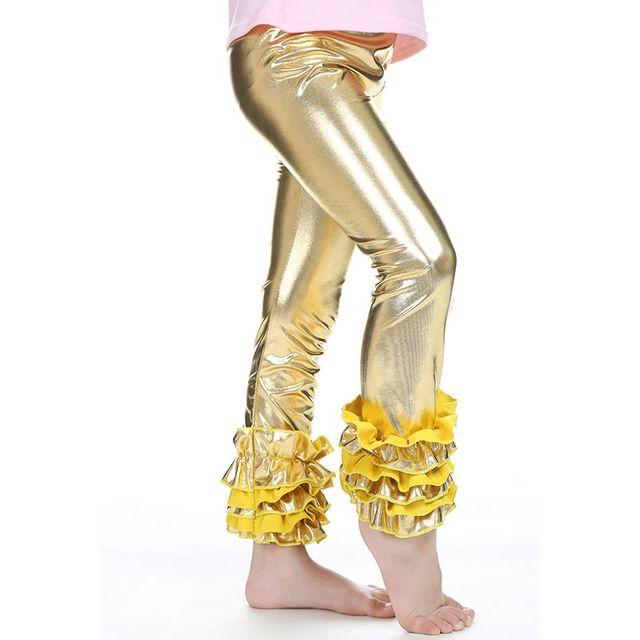 f3b72e3c8122 Kids clothing Plain girls ruffle leggings triple ruffle cotton pants ...
