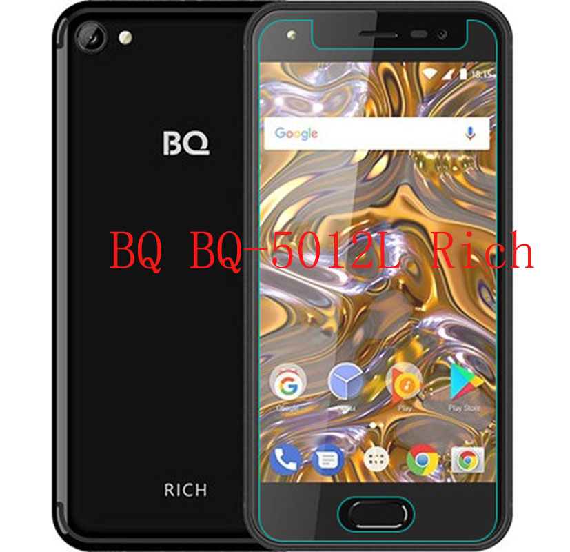 Smartphone Tempered Glass for <font><b>BQ</b></font> <font><b>BQ</b></font>-5012L Rich <font><b>5012</b></font> 9H Explosion-proof Protective Film Screen Protector cover phone image