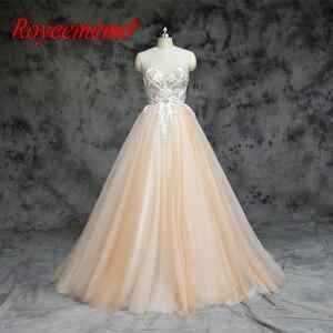 Image 1 - 2019 חדש הגעה ניגודיות צבע נחמד ואגלי אורך רצפת שמלות חתונה שמלת אישית מקובלים במפעל ישירות