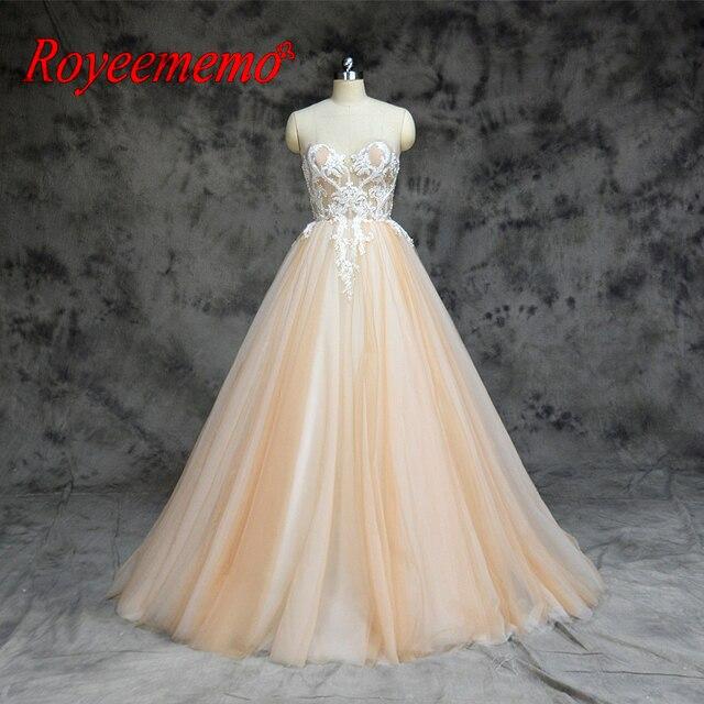 2019 חדש הגעה ניגודיות צבע נחמד ואגלי אורך רצפת שמלות חתונה שמלת אישית מקובלים במפעל ישירות