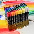 STA 12/24/36/48/80 Color Art Brush Sketch Marker Pens Water Based Ink Twin Tip Marker Pen for Art Graphic Drawing Manga Fine Art
