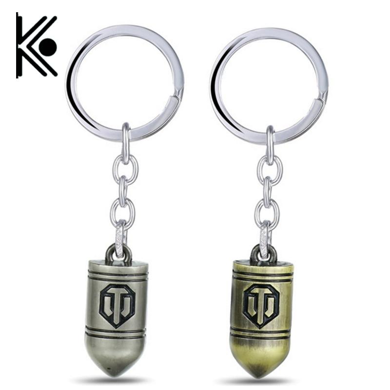 все цены на Game World of Tanks keychain WOT around Collector's Edition shells keychain pendant World of Tanks Cool Key Chain men gift
