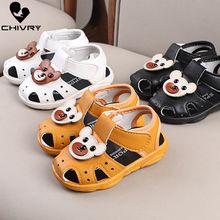 Chivry 2019 Summer Kids Cute Bear Cartoon Toddler Boys Girls Hollow Out Sandals Sport Infant Baby First Walk Shoes