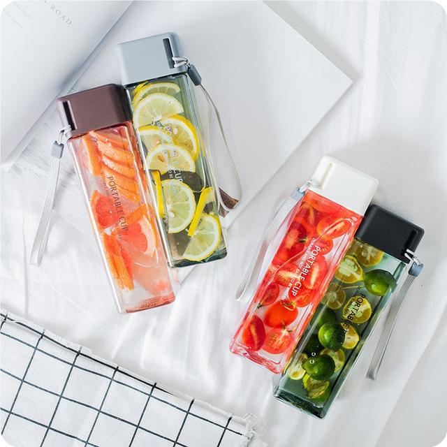 Portable Square Fruit Juice Bottle
