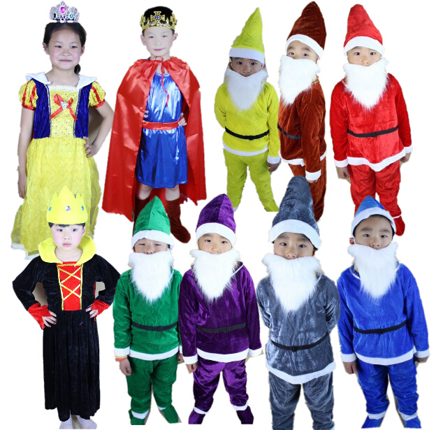 US $29 8 |wholesale Snow White and the Seven Dwarfs costumes children kids  stage costume Party Dress Carnival Costume in stock cheap price trong