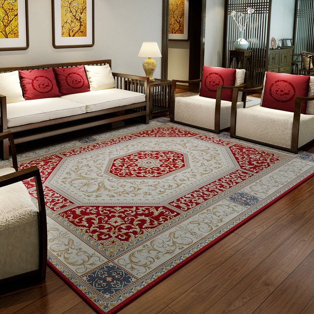 160x230cm Traditional Chinese Carpets For Living Room Brief Retro