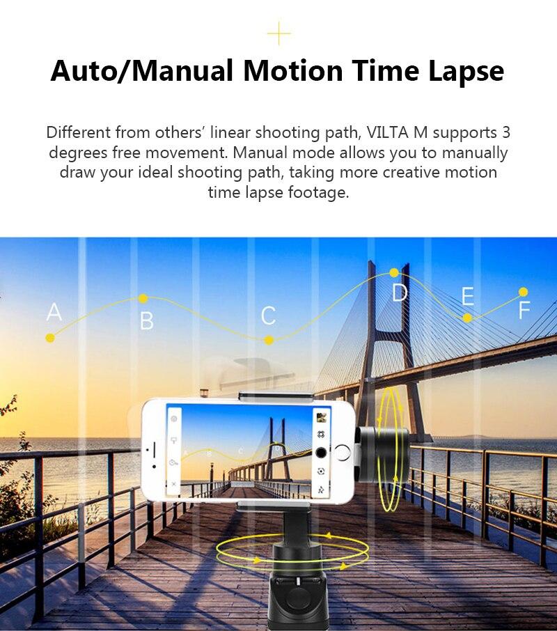 Freevision Vilta-M 3-axis Handheld Gimbal Smartphone Stabilizer for iPhone X 5 6s 8 Samsung GoPro HERO5 4 3 Yi 4K pk osmo 2 dji 4