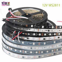 DC12V SMD5050 RGB Flexible adressierbaren 30/48/60 leds/m ws2811 led pixel streifen lichter band externe ic, 1 ic steuer 3 leds