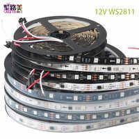 DC12V SMD5050 RGB гибкий адресуемый 30/48/60 светодиодов/m ws2811 Светодиодный пикселей светодиодные полосы света ленты внешние ic, 1 ic control 3 светодиода