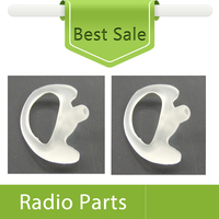 100X (50pairs left and right) High Quality Clear Earmold For Acoustic Tube Earphones