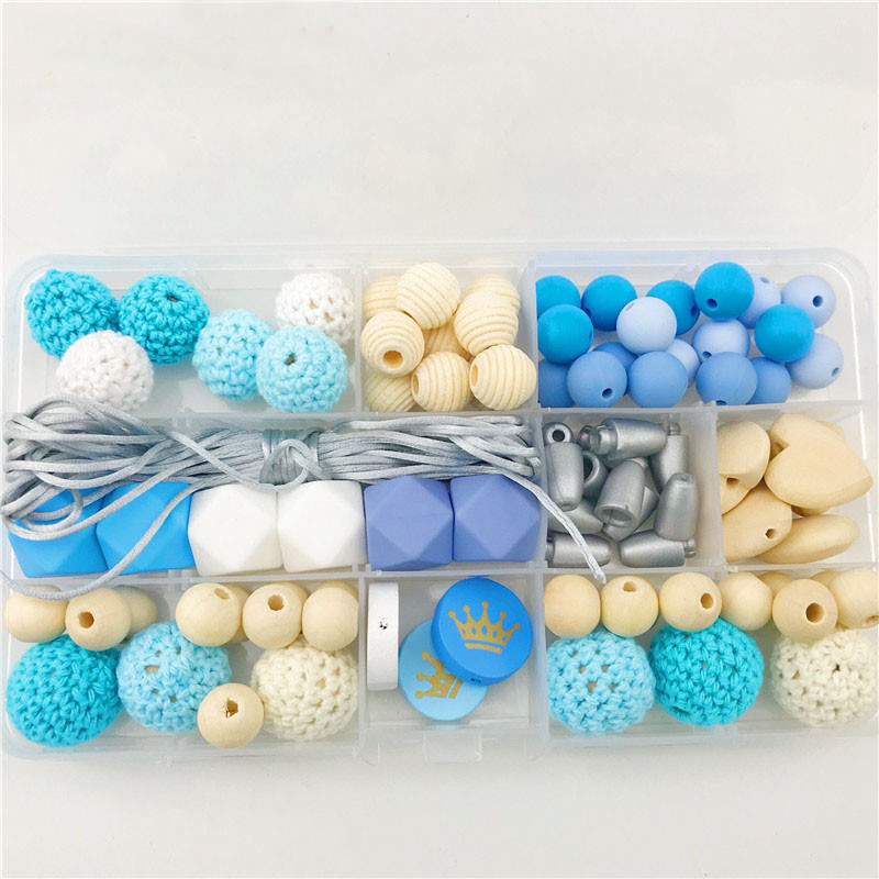 Silicone Teether Baby DIY Crafts Set Pacifier Clips Crib Toy Safe And Natural Wo
