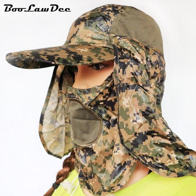 BooLawDee Прохладный камуфляж отдыха лес шляпа многостороннего носить полиэстер 360 градусов полная защита лоскутное свободный размер 4F005
