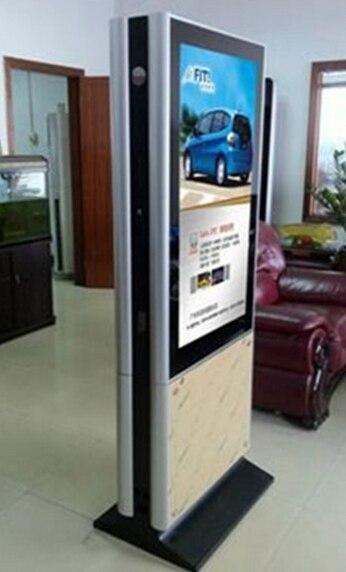42 47 55 pouces à la fois double face TFT led lcd HD écran wifi bluetooth totem kiosque vidéo affichage numérique avec panneau lg