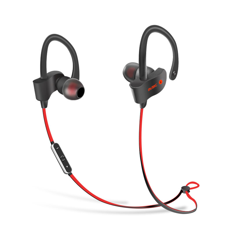 Bluetooth earphone wireless 4.1  Stereo Sweatproof Headphones with Microphone Sport Bluetooth Headset for iPhone Android Phone remax rb s6 wireless bluetooth earphone headphones with microphone sport stereo bluetooth headset for iphone android phone