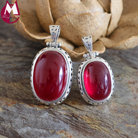 Fashion Simple Red Jade Peandant For Women 100% 925 Sterling Silver Necklace Pendant Fine Hollow Triangle Geometry Pendant SP42