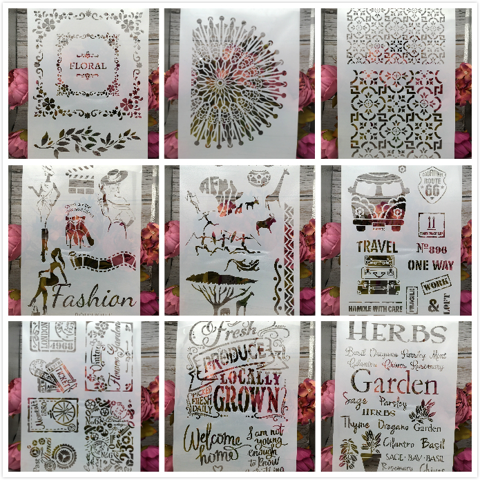 F51E Herbs Garden Lady Words A4 Craft Layering Stencils Wall Painting Scrapbooking Stamping Embossing Album Paper Card Template|Cutting Dies| |  - AliExpress