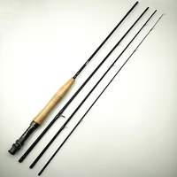 Brinkworth 4 sections fly fishing rod high carbon 8 feet 9 feet flying rod 3/4 5/6 soft power 2.4m 2.7m fish pole weight 86g 96g