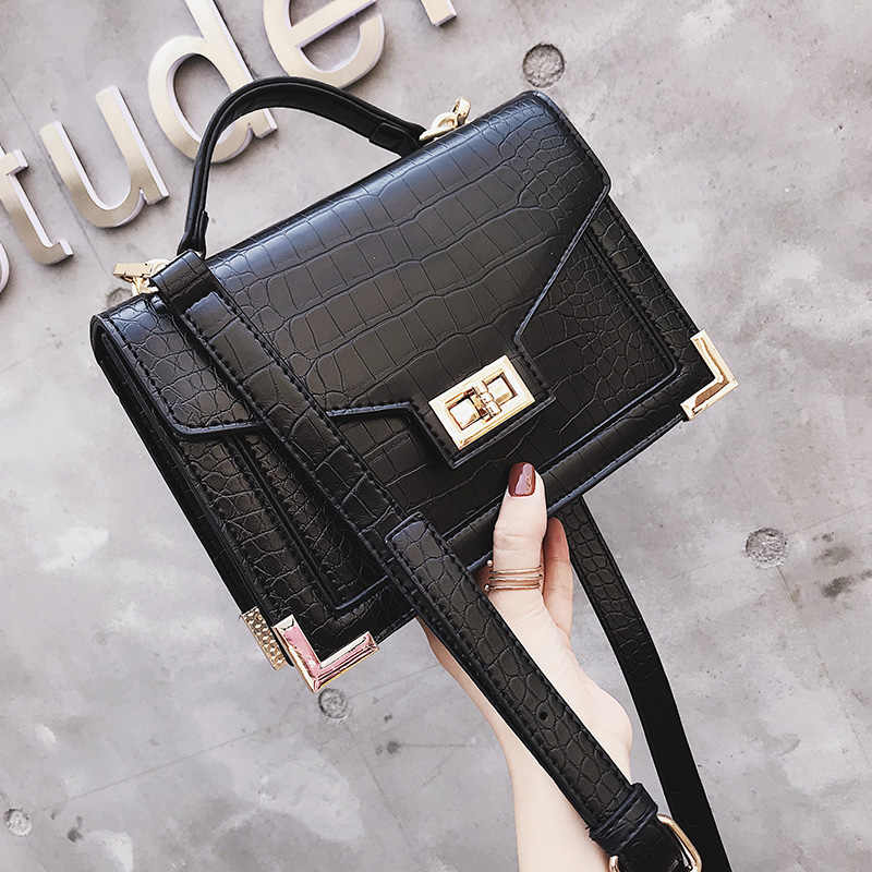 6d65fa88e1df ... 2019 роскошные женские кожаные сумки женские сумки дизайнерские  крокодиловые узоры кожаные сумки через плечо bolsa Женская ...