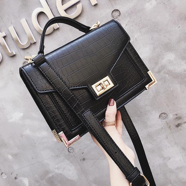 Crocodile Pattern Leather Luxury Bags For Women