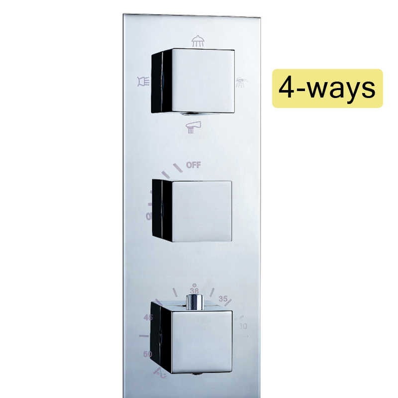 Krom termostatik mikser vana sıcaklık kontrol duş bataryası vana pirinç 3 Handke duş mikser vana