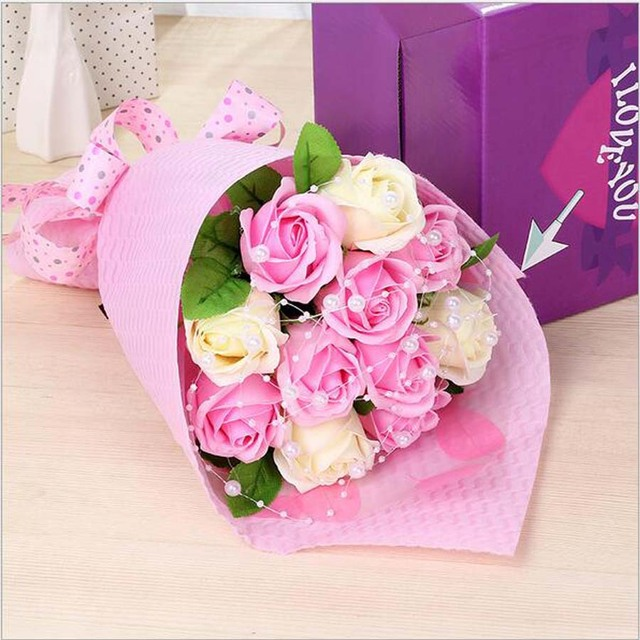 High quality Handmade creative soap roses bouquets simulation soap ...