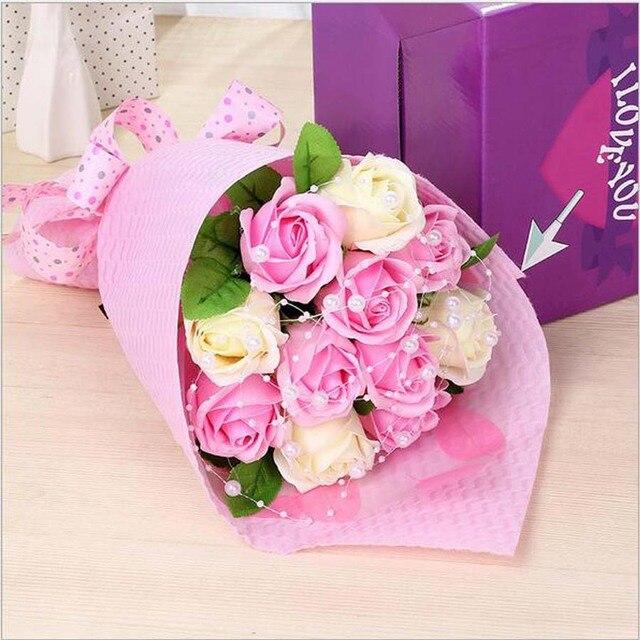 Kualitas Tinggi Buatan Tangan Kreatif Sabun Sabun Bunga Mawar