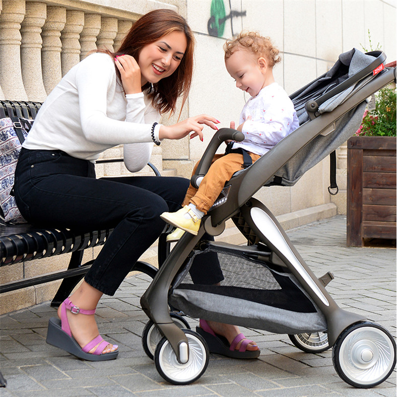 Portable Baby Stroller with Light Aluminium Alloy High Landscape Carriage European Lightweight Pram Folding strollers brandsPortable Baby Stroller with Light Aluminium Alloy High Landscape Carriage European Lightweight Pram Folding strollers brands