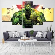 The Avengers film series Hulk 5 Piece Wall Art Canvas Print modern Poster Modular art painting for Living Room Home Decor цены