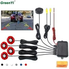 Автомобильный Видео парковочный датчик обратный резервный радар детектор помощь с 16 мм регулируемый плоский датчик s поддержка видео вход