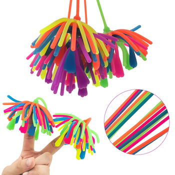 3Pcs/Lot TPR Squishy Rope Noodle Ball Soft AntiStress Decompression Pressure Funny Squishies Extrusion Toy Wholesale