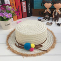 1 Pcs 2017 European Summer Straw Hats For Children Brand Outdoor Beach Sun Hats Girl and Boy Caps 5 Colors 8529
