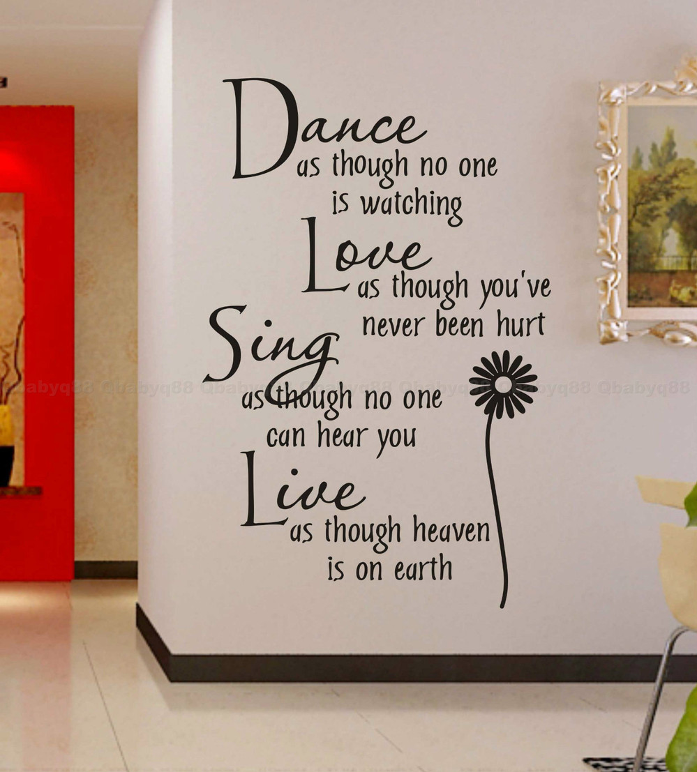 Free shippingwholesale50discount off dance love sing live wall free shippingwholesale50discount off dance love sing live wall quotes decals removable stickers decor vinyl art wall decal in wall stickers from home amipublicfo Image collections