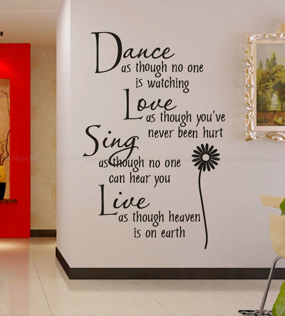 Free Shipping:wholesale=50%Discount Off Dance love sing live Wall ...