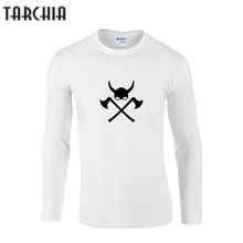 TARCHIIA Primavera Moda Hombre Camiseta Impresa Cuello Redondo de Manga Larga camiseta Delgada Camiseta Ocasional Hombre Hombres Ropa