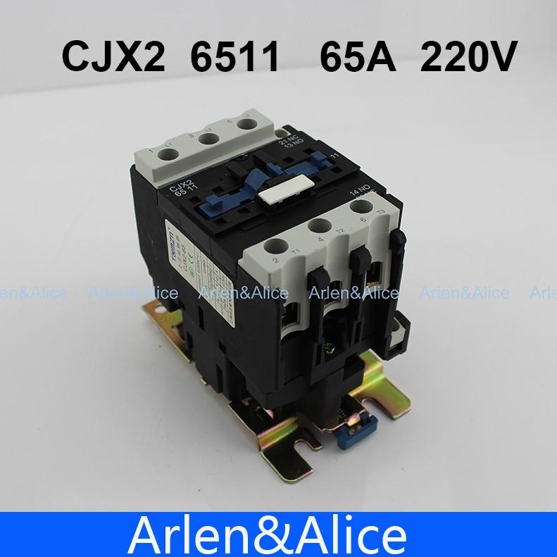 CJX2 6511 AC contactor LC1 65A 220V 50HZ/60HZ цена 2017