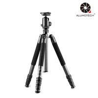 ALUMOTECH For Camera Video Studio Photography Supporting Accessories Max Load 16kg Multi function Carbon Fiber Tripod Stand