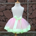 Girls Skirt Tulle and Ribbon Bow Tutu for 0-8 Years old Children Dance Skirt or Kids Birthday Princess Party Tutu Skirt