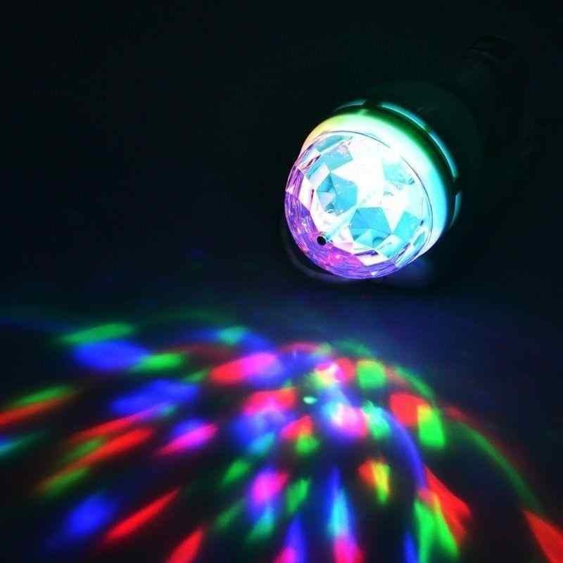 3 w colorido bola de discoteca automático rotativo rgb led lâmpada luz de palco iluminação palco ktv festival decoração de casamento e27 100-240 v