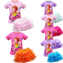 New childrens suit fancy nancy beautiful Nancy 3-10y girl short-sleeved mesh Halloween performance clothing