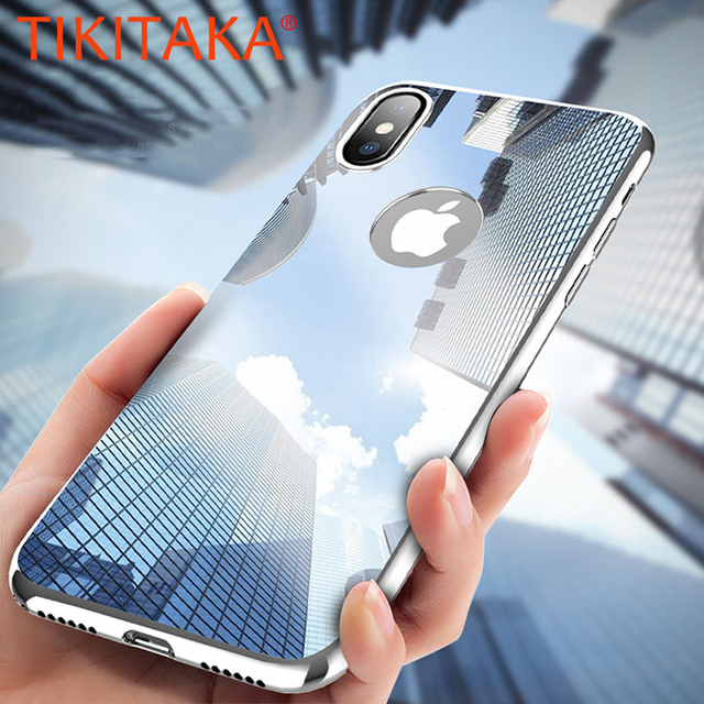 hot sale online b08e7 02f5b US $3.44 16% OFF|For iphone X Case Luxury Ultra Thin Bling Mirror 360 Full  Protection Cover For iphone 8 7 6 6s Plus 5 5s SE Cases + Screen Film-in ...