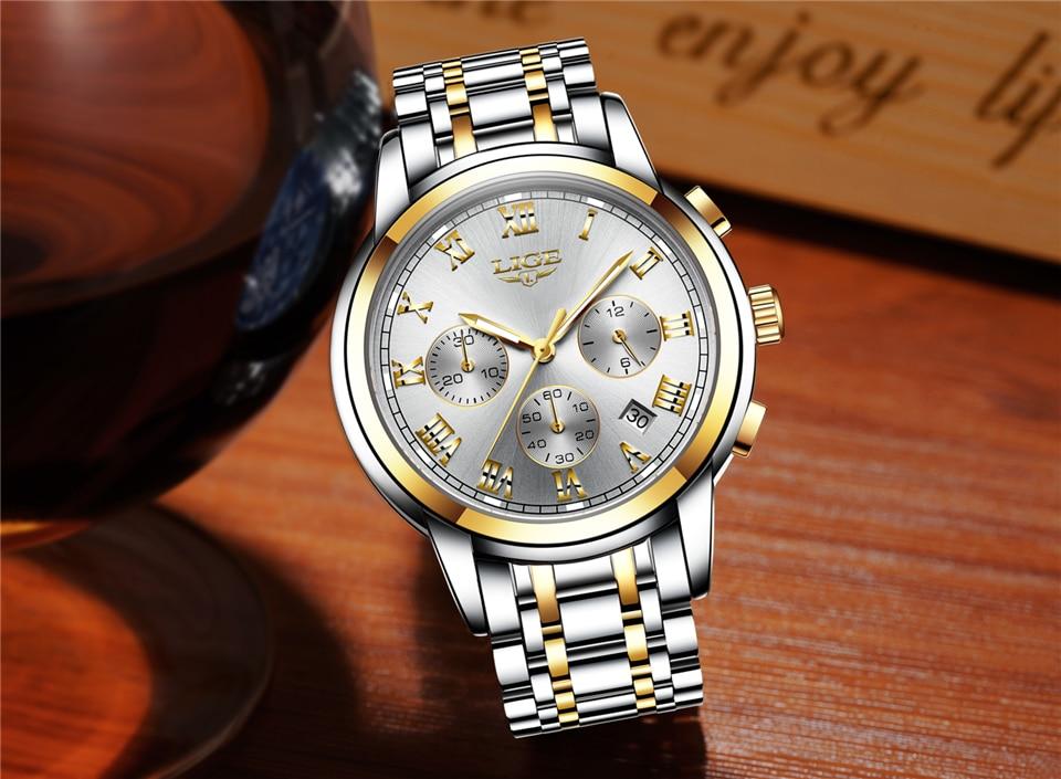 HTB1oX9Rfv2H8KJjy0Fcq6yDlFXaI LIGE Men Watches Top Luxury Brand Full Steel Waterproof Sport Quartz Watch Men Fashion Date Clock Chronograph Relogio Masculino