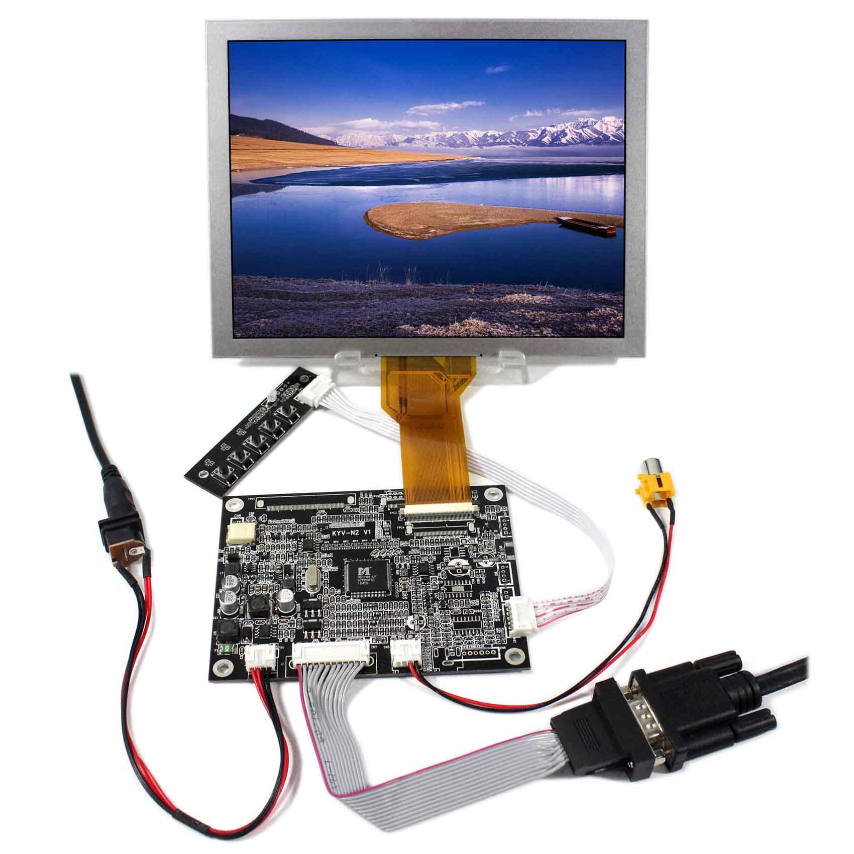 цена VGA AV LCD Controller Board KYV-N2 V1+8inch EJ080NA-05B 800x600 LCD Screen