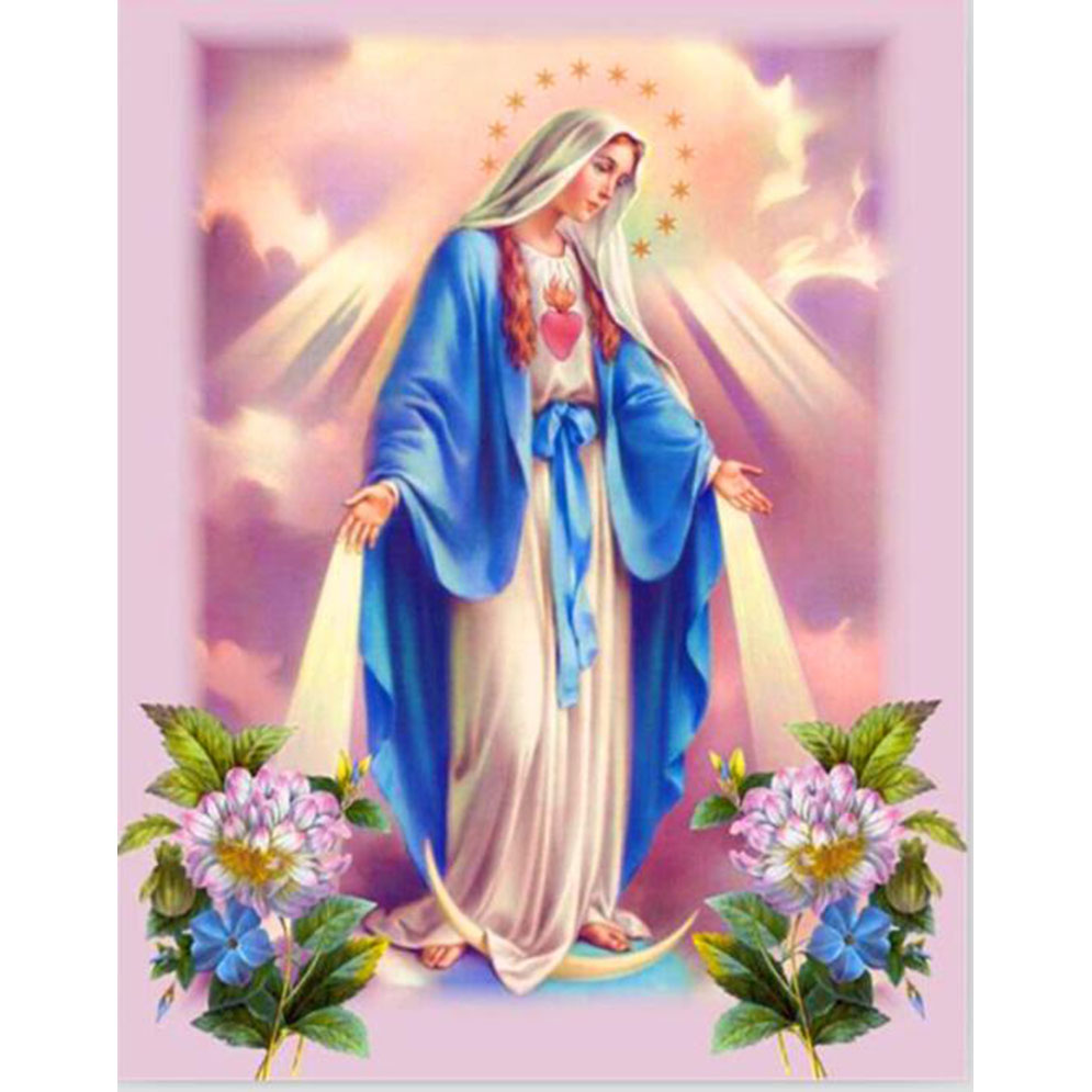 Hot DIY 3D Diamond Embroidery Religion Picture & jesus christ images Mother And Baby Painting Cross Stitch kit Craft ST20