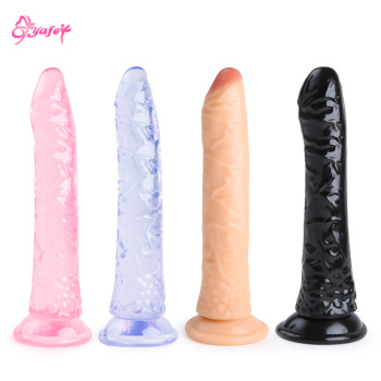 Soft Jelly Dildo Realistic No Vibrator Anal Strap On Penis Suction Cup Toys for Adult Sex Woman