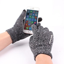 Winter Women Men Gloves Knitted Smartphone Using High Quality Thicken Warm Wool Cashmere Solid Hand Business